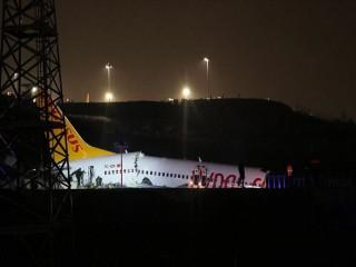 İstanbul'da Pegasus uçağında panik